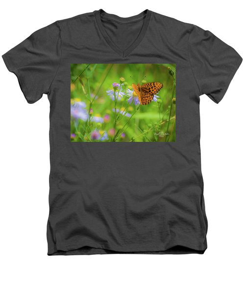 Spring Butterfly Men's V-Neck T-Shirt