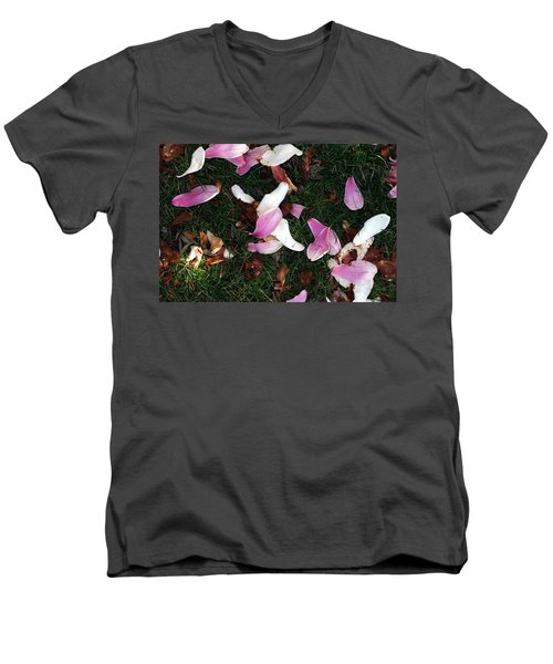 Men's V-Neck T-Shirt featuring the photograph Spring Carpet by Dorin Adrian Berbier