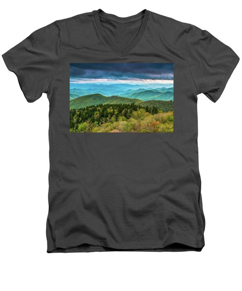 Men's V-Neck T-Shirt featuring the photograph Spring Colors by Joye Ardyn Durham