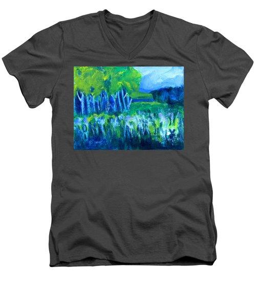 Spring Coming Men's V-Neck T-Shirt by Betty Pieper
