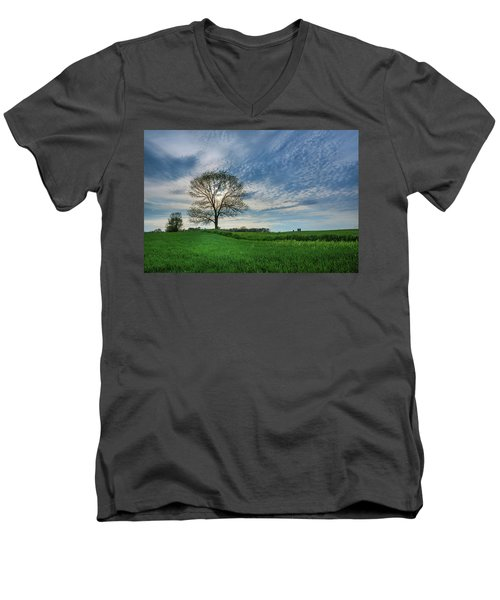 Men's V-Neck T-Shirt featuring the photograph Spring Coming On by Bill Pevlor
