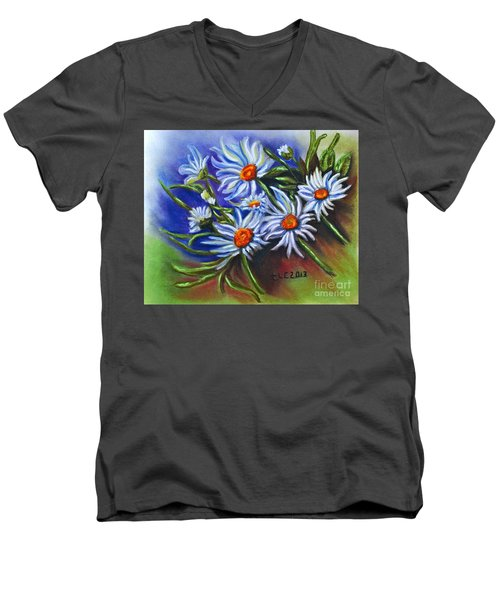 Spring Dasiy  Men's V-Neck T-Shirt