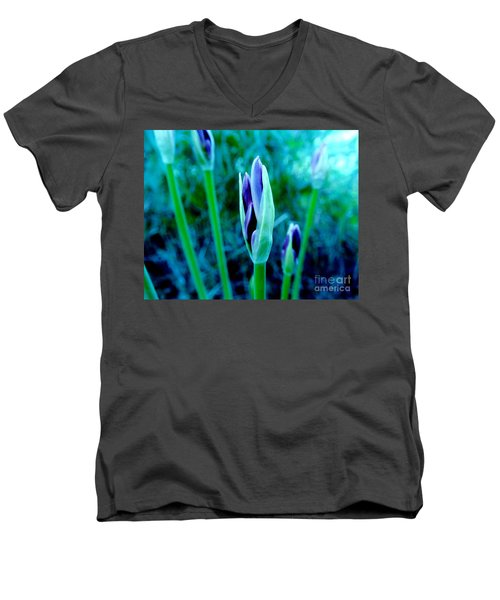 Men's V-Neck T-Shirt featuring the photograph Spring Erupting Early by Marsha Heiken