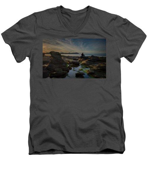 Spring Evening Men's V-Neck T-Shirt by Randy Hall