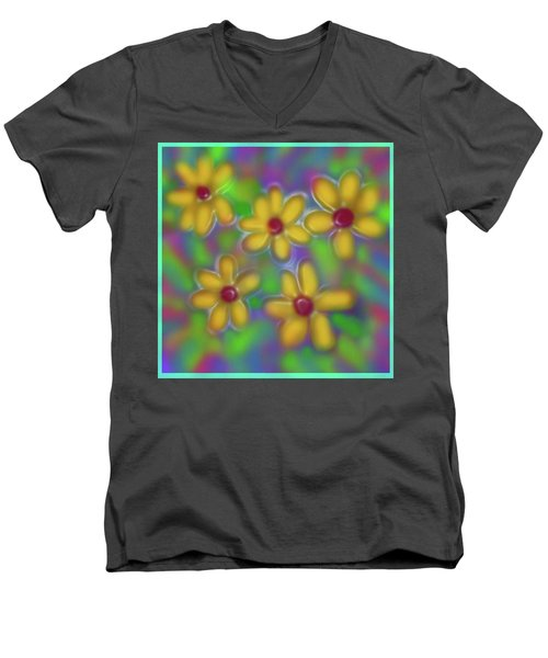 Spring Fever Men's V-Neck T-Shirt by Latha Gokuldas Panicker