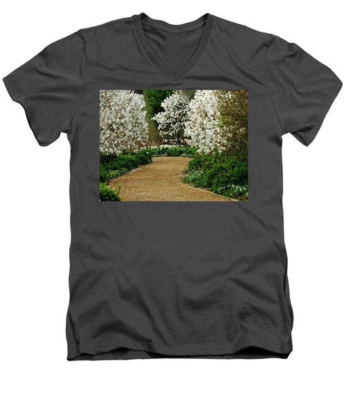 Spring Flowering Trees Wall Art Men's V-Neck T-Shirt