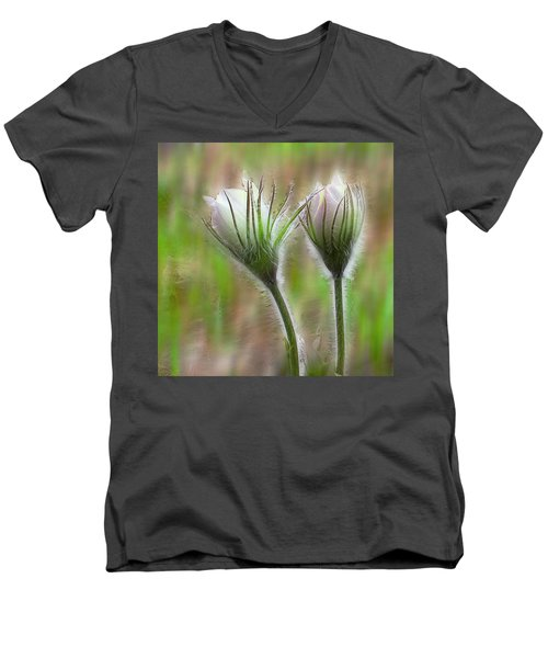 Men's V-Neck T-Shirt featuring the photograph Spring Flowers by Vladimir Kholostykh