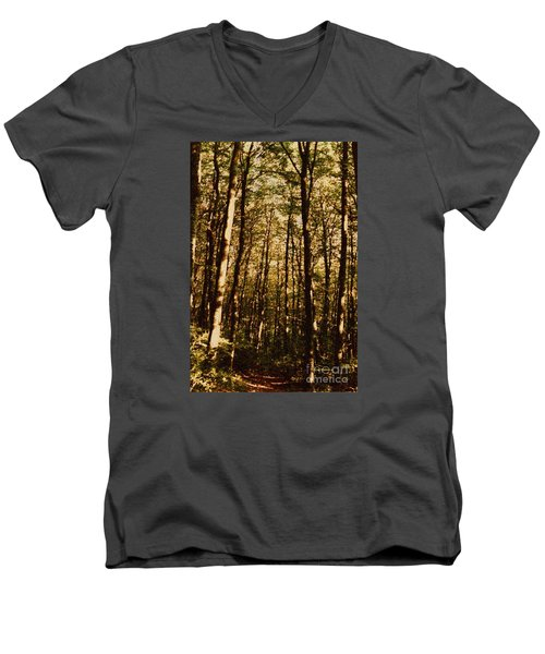 Men's V-Neck T-Shirt featuring the photograph Spring Forest by Jean Bernard Roussilhe