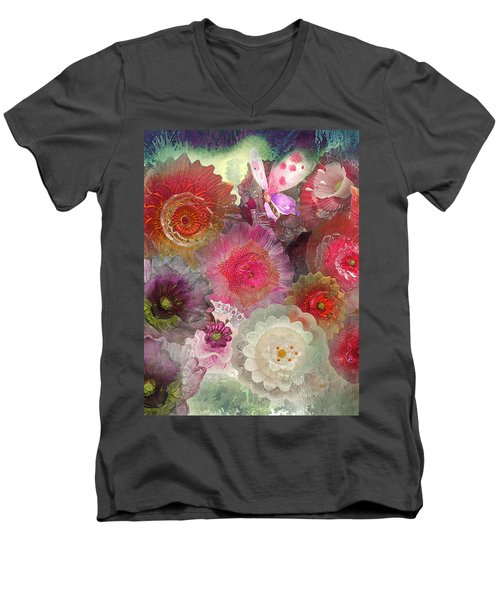 Men's V-Neck T-Shirt featuring the photograph Spring Glass by Jeff Burgess