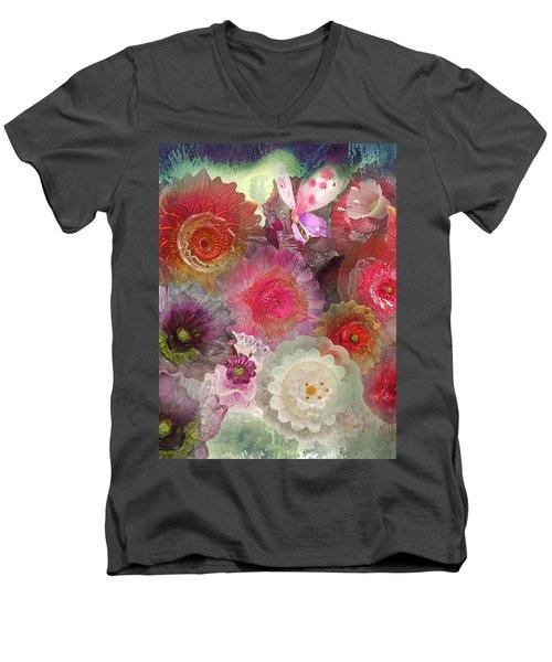 Spring Glass Men's V-Neck T-Shirt by Jeff Burgess