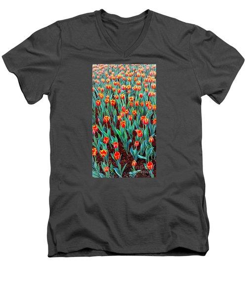 Spring In Holland Men's V-Neck T-Shirt by Ian Gledhill