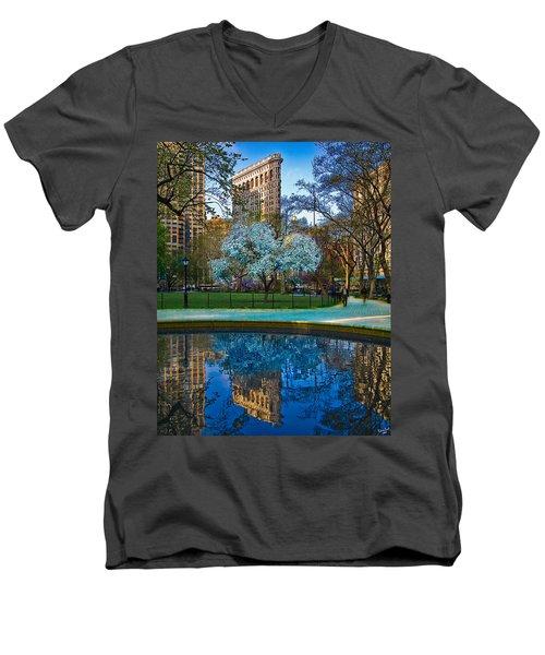 Spring In Madison Square Park Men's V-Neck T-Shirt