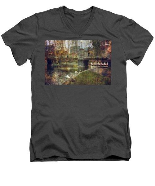 Spring In The Boston Public Garden Men's V-Neck T-Shirt