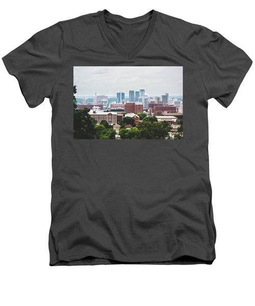 Men's V-Neck T-Shirt featuring the photograph Spring In The Magic City - Birmingham by Shelby Young