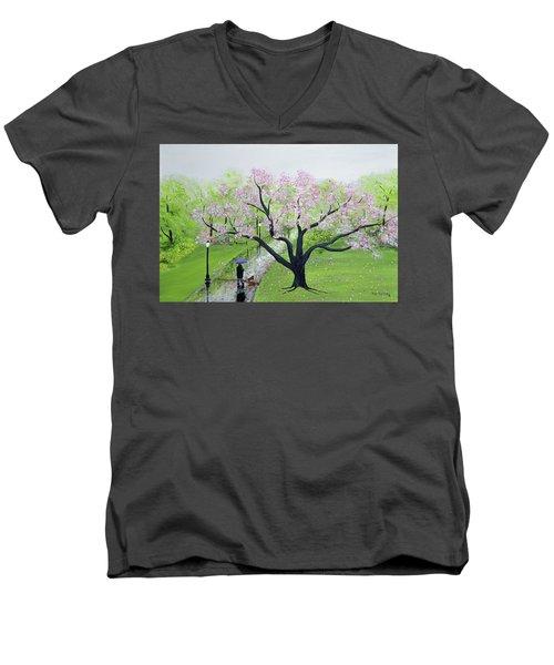 Spring In The Park Men's V-Neck T-Shirt