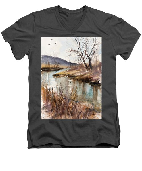 Spring Is Blushing Men's V-Neck T-Shirt by Judith Levins