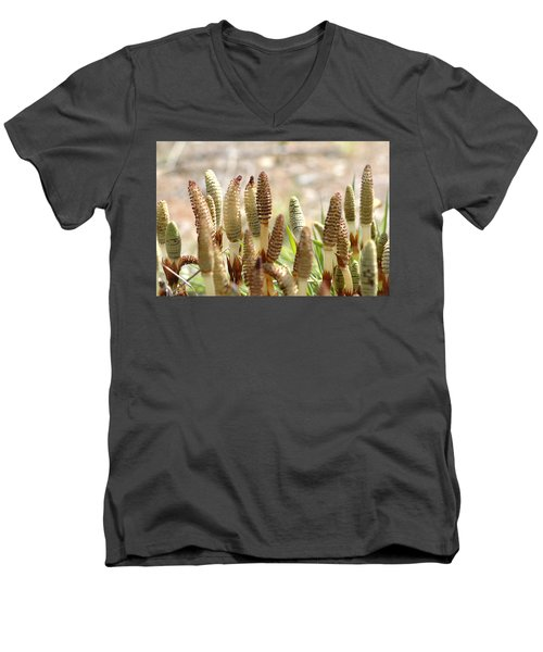 Men's V-Neck T-Shirt featuring the photograph Spring Macro4 by Jeff Burgess