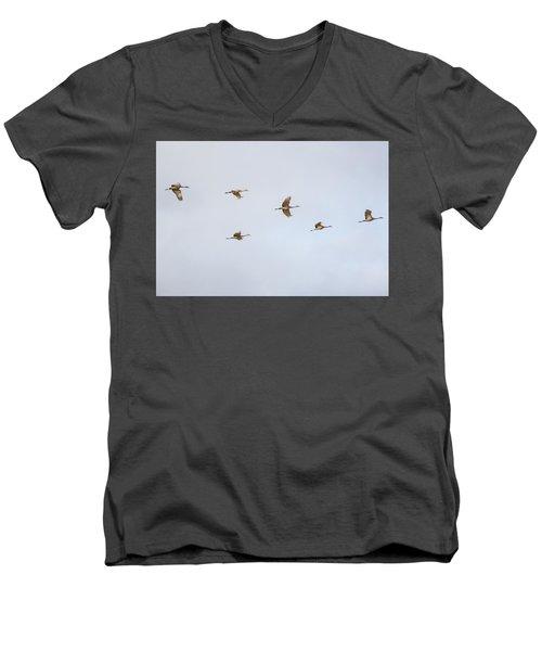 Spring Migration 4 Men's V-Neck T-Shirt