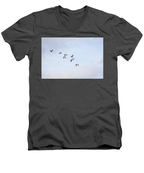 Spring Migration Men's V-Neck T-Shirt