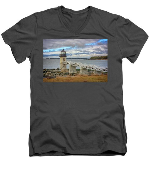 Men's V-Neck T-Shirt featuring the photograph Spring Morning At Marshall Point by Rick Berk