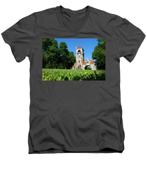 Spring Morning At Testimonial Gateway Men's V-Neck T-Shirt