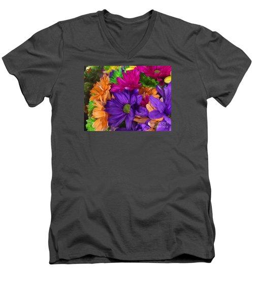 Spring Mums Men's V-Neck T-Shirt