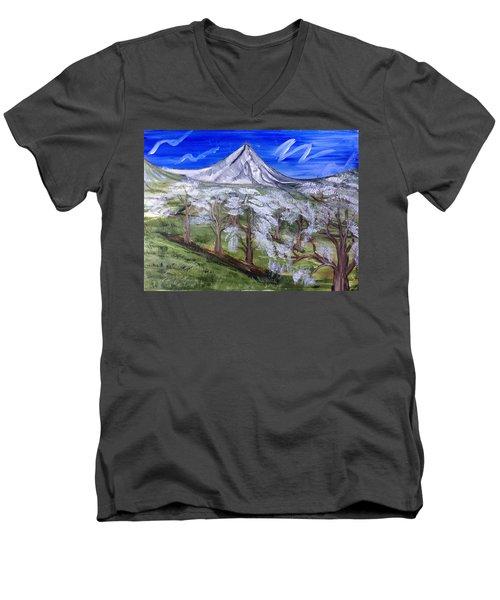 Spring On The Hood Men's V-Neck T-Shirt