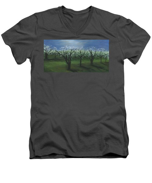 Spring Orchard Men's V-Neck T-Shirt