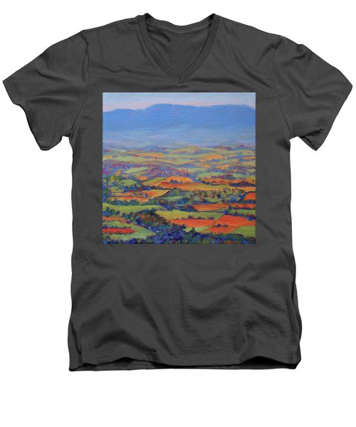 Spring Patchwork 1 Men's V-Neck T-Shirt