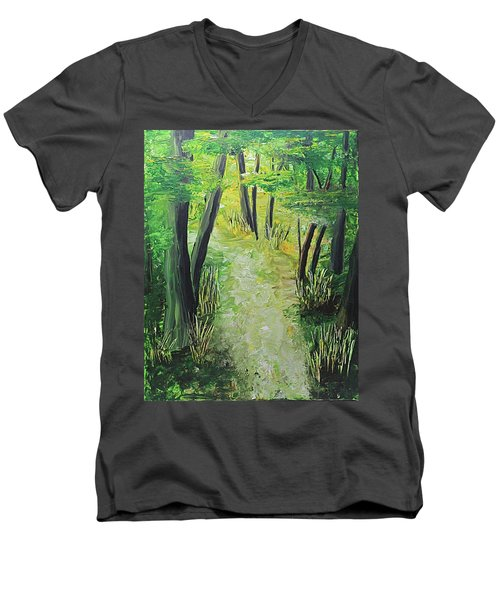 Spring Path Men's V-Neck T-Shirt