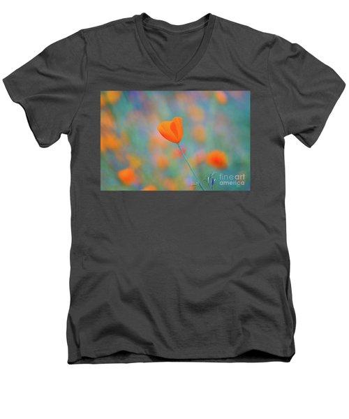 Spring Poppy Men's V-Neck T-Shirt