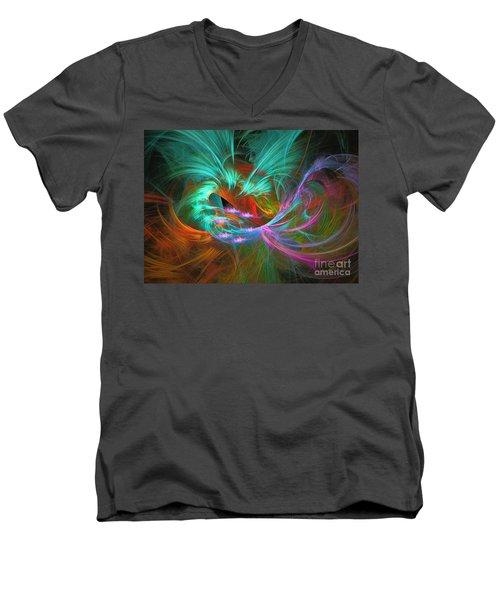 Spring Riot - Abstract Art Men's V-Neck T-Shirt