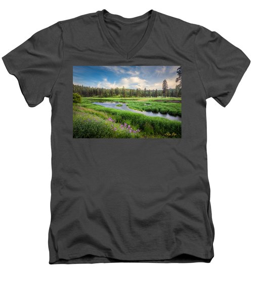 Spring River Valley Men's V-Neck T-Shirt