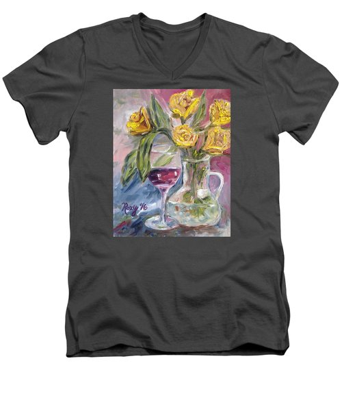 Spring Romance Men's V-Neck T-Shirt