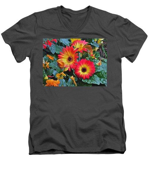 Spring Show 14 Gerbera Daisy 1 Men's V-Neck T-Shirt