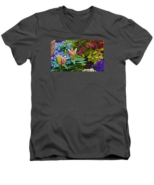 Spring Show 15 Lilies Men's V-Neck T-Shirt