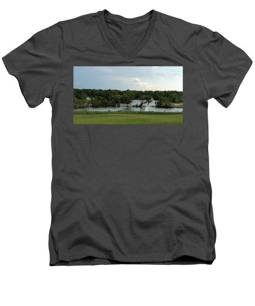 Spring Splendor Men's V-Neck T-Shirt by Sylvia Thornton