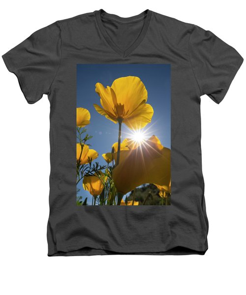 Spring Starburst Men's V-Neck T-Shirt by Sue Cullumber