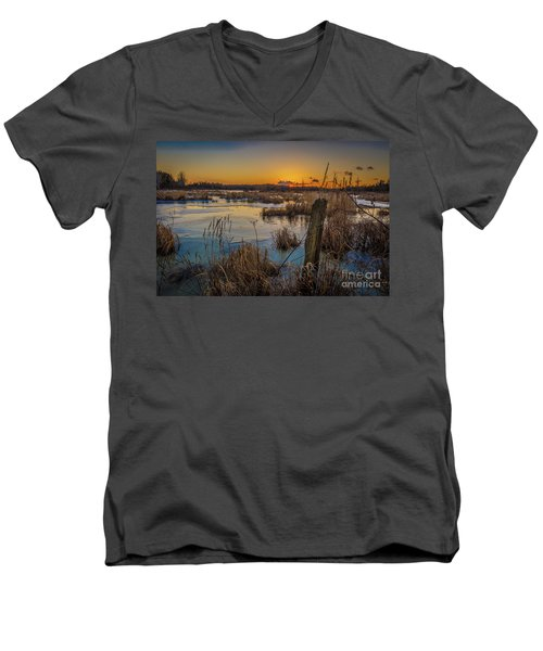 Spring Sunset Men's V-Neck T-Shirt