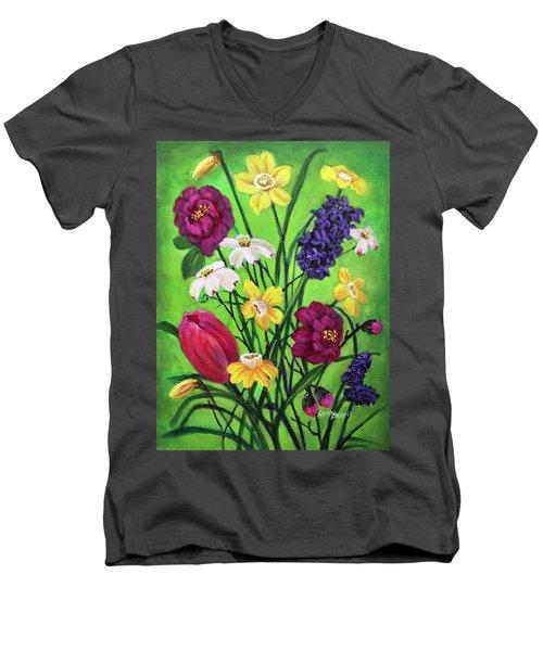 Spring Symphony Men's V-Neck T-Shirt