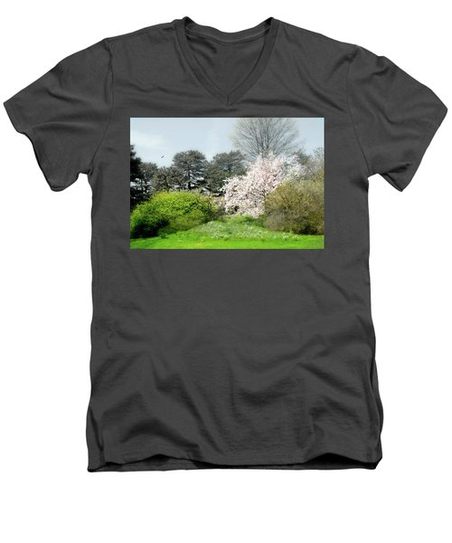 Men's V-Neck T-Shirt featuring the photograph Spring Treasures by Diana Angstadt