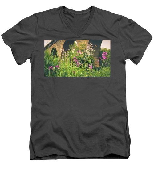 Spring Under The Arches Men's V-Neck T-Shirt