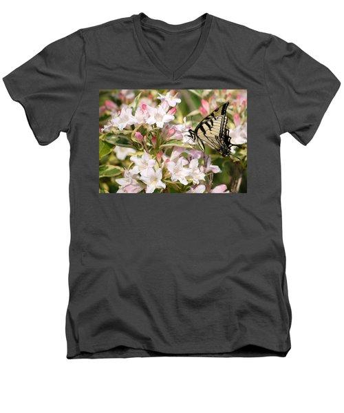 Spring Visit Men's V-Neck T-Shirt