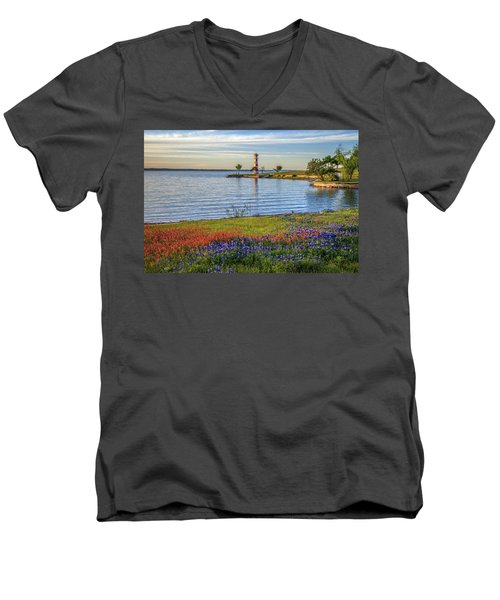 Spring Wildflowers Of Lake Buchanan Men's V-Neck T-Shirt