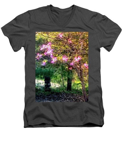 Spring Will Come Men's V-Neck T-Shirt by Robin Regan