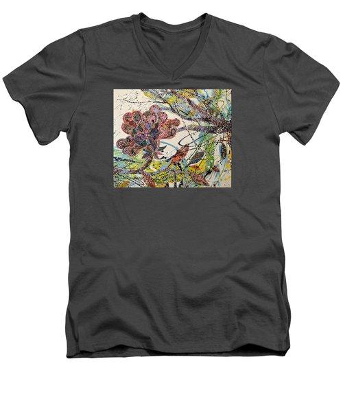Springing Men's V-Neck T-Shirt by Erika Pochybova