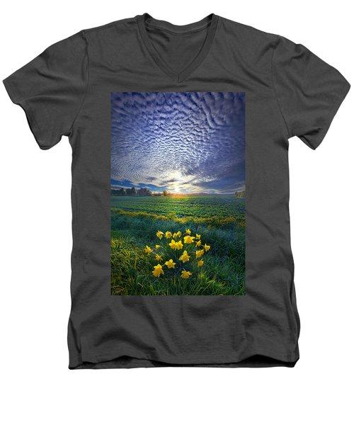 Springing To Life Men's V-Neck T-Shirt