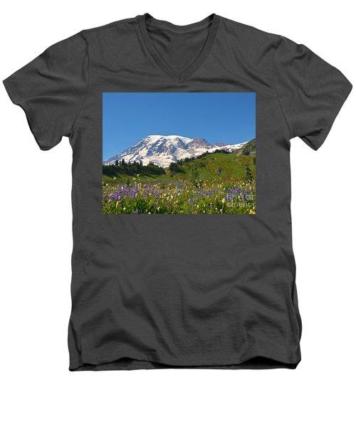 Springtime At Paradise 2 Men's V-Neck T-Shirt