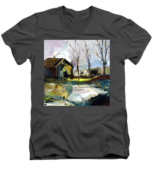 Springtime Barn Men's V-Neck T-Shirt