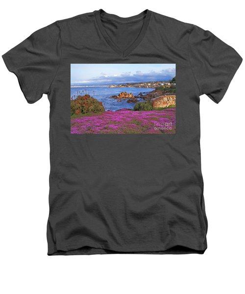 Springtime In Pacific Grove Men's V-Neck T-Shirt